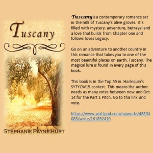 Tuscany Wattpad ad